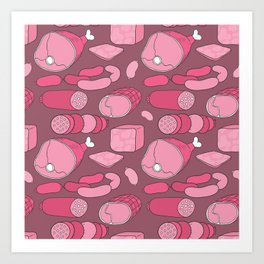 All meat a real treat... Art Print