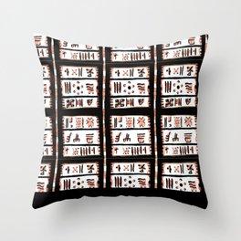 Natural Black pattern Throw Pillow