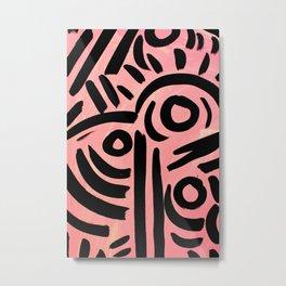 Pink Tribal Graffiti Metal Print