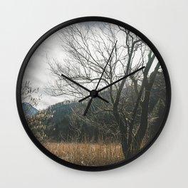 The big leafless tree Wall Clock