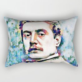 Giacomo Puccini (1858 – 1924) digitized photography Rectangular Pillow