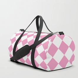 Light Pink Diamond Pattern Duffle Bag