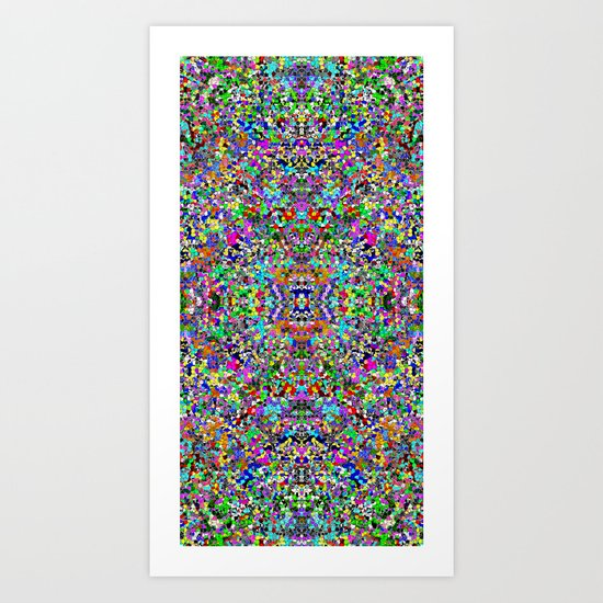 Intricate Neon Art Print