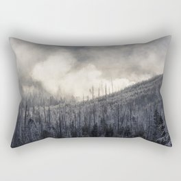 Steamy Forest -  Yellowstone National Park Rectangular Pillow