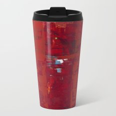 Solomon Abstract Red Modern Art Painting Shawn McNulty Metal Travel Mug