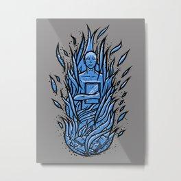 fahrenheit 451 - bradbury blue variant Metal Print