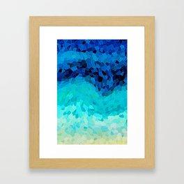 INVITE TO BLUE Framed Art Print