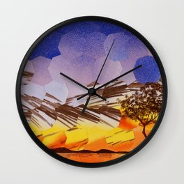 Lavendar Morning with Dove Wall Clock