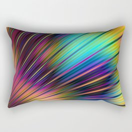 Psychedelic Stripes Pattern Rectangular Pillow