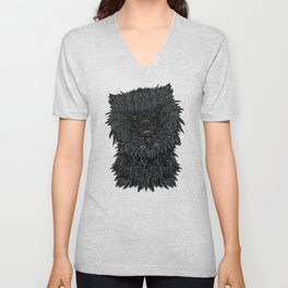 Black Pomeranian Unisex V-Neck