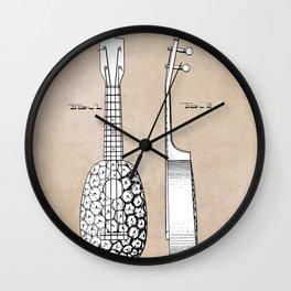 patent art Kamaka Ukulele 1927 Wall Clock