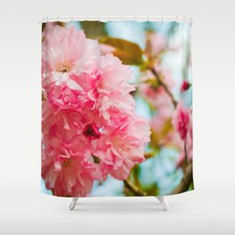 Pink Blooms (1) Shower Curtain