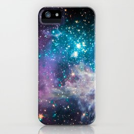 Lavender Teal Star Nursery iPhone Case