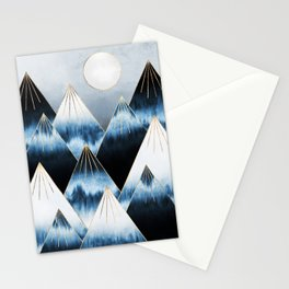 Frost Mountains Stationery Cards