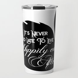 Happily Ever After Black Swan A368 Travel Mug