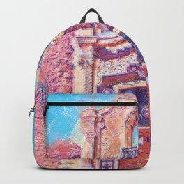 Pastel Train Station Door Backpack