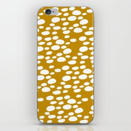 Monstera Leaf Hole Pattern - mustard yellow iPhone Skin