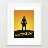 watchmen Framed Art Prints featuring Watchmen by Nick Kemp