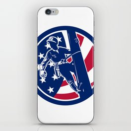 American Lineworker USA Flag Icon iPhone Skin