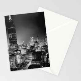 NYC At Night - Empire State Building - Circa 1937 Stationery Cards