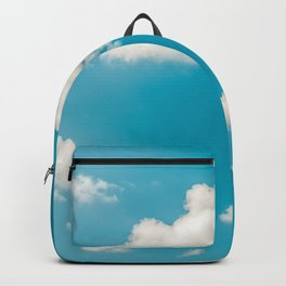 Deep Blue Summer Sky, White Clouds On Turquoise Sky, Heaven Scenery, Wall Art, Poster Decor Backpack