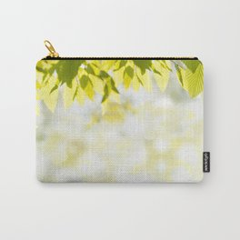 Elm green leaves and blurred space Carry-All Pouch