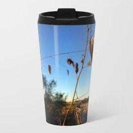 sunset leaves Metal Travel Mug