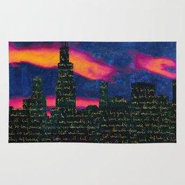 Chicago skyline Rug