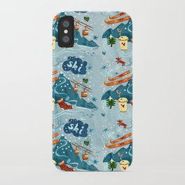 Ski Pattern iPhone Case