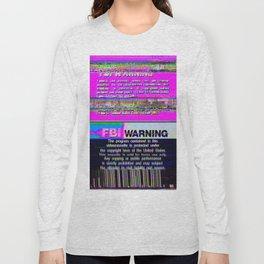 FBI Warning Distorted Long Sleeve T-shirt