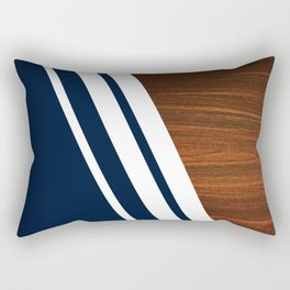 Wooden Navy Rectangular Pillow