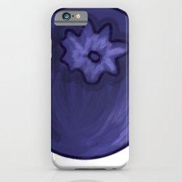 Velvet blue blueberry blueberry on white background iPhone Case