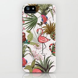 Vintage Flamingo Graphic iPhone Case