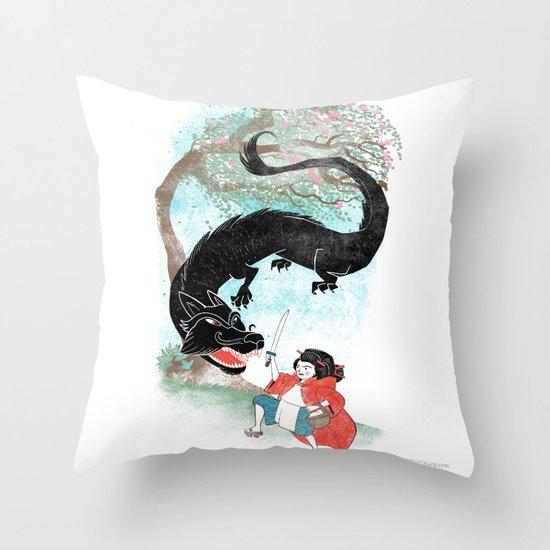 Little Red-San Throw Pillow