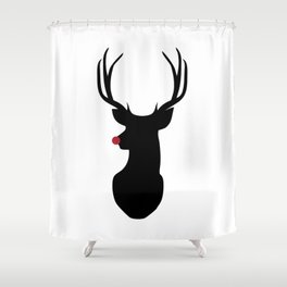 Rudolph The Red-Nosed Reindeer Shower Curtain