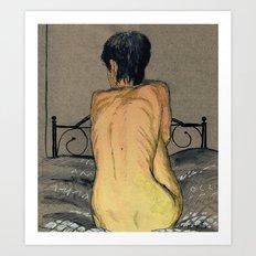 Yellow Girl Art Print