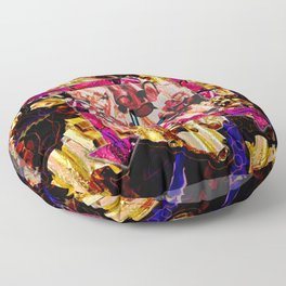 Tubular Abstract Floor Pillow