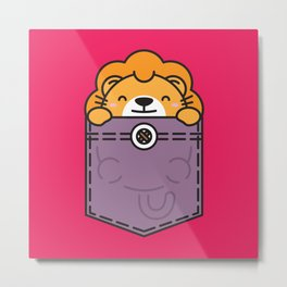 Pocket Lion Metal Print