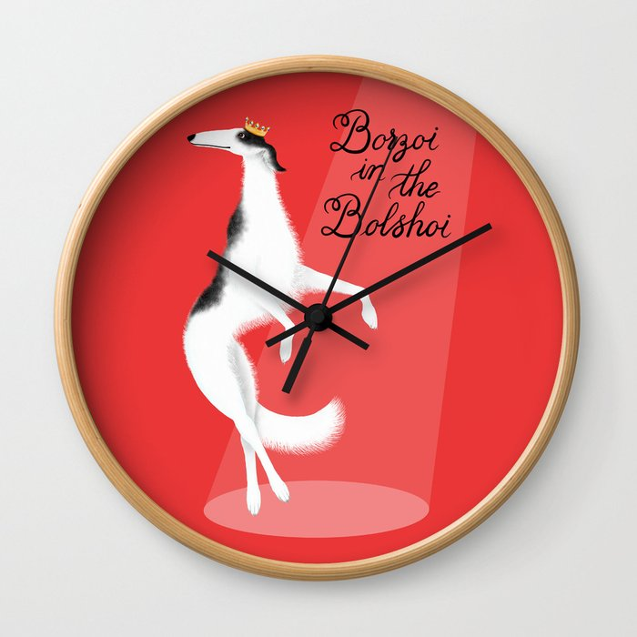 Borzoi in the Bolshoi Wall Clock
