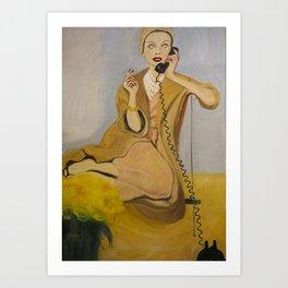 """Gloria, do tell"" Art Print"