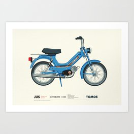 Motorbike Automatic 3 MS - Tomos Art Print