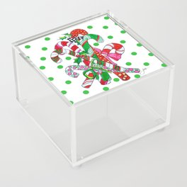 Candy Cane Party Acrylic Box