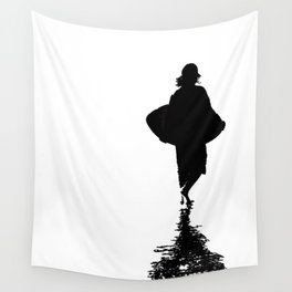 Ocean Beach Skim Black + White Wall Tapestry