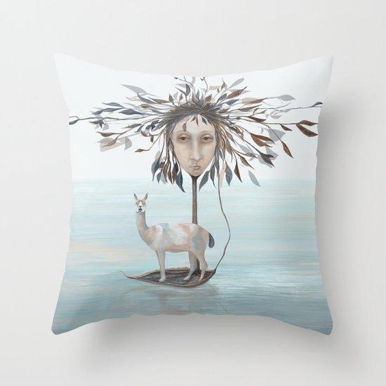 The Leaf Boatman Throw Pillow