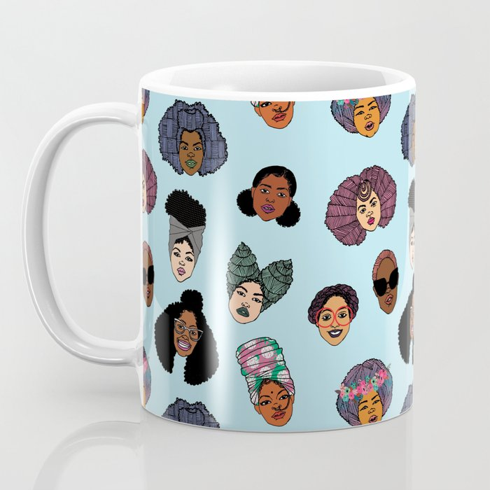 Black Hair Magic - Blue Coffee Mug