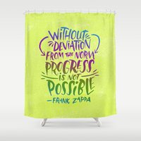 zappa Shower Curtains featuring Frank Zappa on Progress by Josh LaFayette