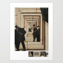 exit stage left Art Print