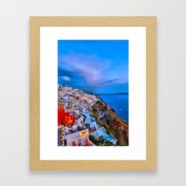 Santorini 7 Framed Art Print