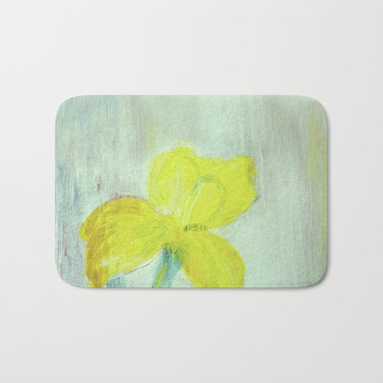 Sunny iris 5 Bath Mat