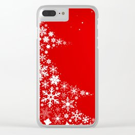 Red Christmas Clear iPhone Case
